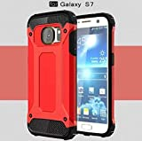 Galaxy 2016 A5 Case,OMORRO Super Shield Ultra Slim Tough Armour Premium Dual Layer Hybrid Shockproof Anti Scratch Armor Defender Hard Rugged Rugged Case for Samsung Galaxy A510 Red