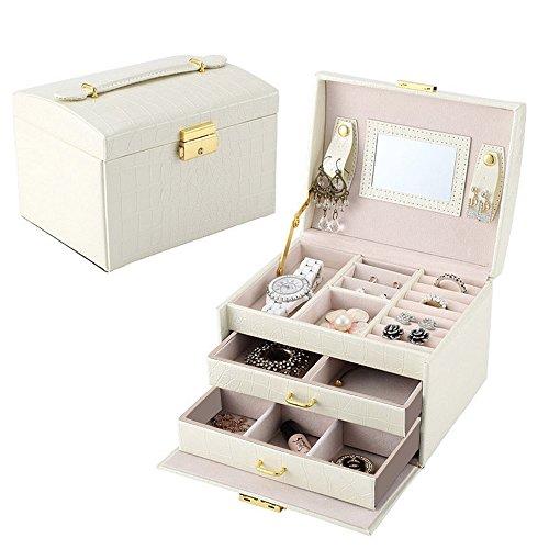 Lychee Beautiful Leather Jewelry Box Case Storage Organiz...