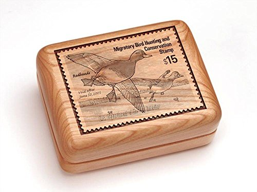 Heartwood Creations 4x3 Box With Money Clip/Pocket Knife - Redhead Ducks ()