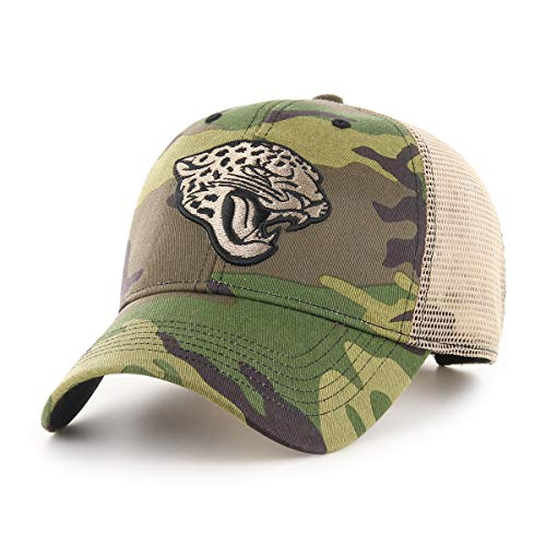 OTS NFL Jacksonville Jaguars Male Nameplate All-Star Adjustable Hat, Camo, One Size