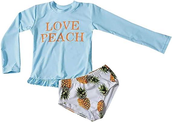 Pineapple Arctic White Short Sleeve Rash Guard /& Swim Trunk 2-Piece Set