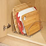 InterDesign Classico Kitchen Cookware Organizer for Cutting Boards and Cookie/Baking Sheets - Chrome