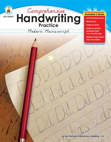 Comprehensive Handwriting Practice: Modern Manuscript, Grades K - -