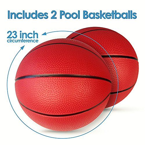 Giant pool inflatable basketball hoop set 2 balls included - Swimming pool basketball hoop costco ...