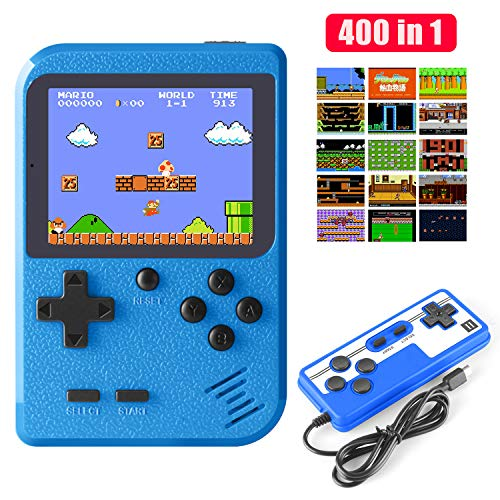 Diswoe Handheld Game Console, Retro Mini Game Player with 800mAh Rechargeable Battery, 400 Classical FC Games, 2.8-Inch Color Screen, Support for Connecting TV & Two Players, Gift for Kids and Adults from Diswoe
