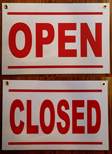 1-Pc Foremost Popular Open and Close Signs Retail Store Coroplast Size 12