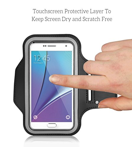 Cell Phone Armband: Best Sweatproof Sports Arm Band Strap Protective Holder Pouch Case For Gym Running For iPhone 6 6S 7 7S 8 Plus Touch Samsung Galaxy S8 S7 S6 S5 Pixel Note 4 5 Edge HTC ONE Android by E Tronic Edge (Image #2)