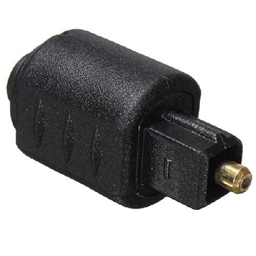 Importer520 2 Packs Optical 3.5mm Female Mini Jack Plug To Digital Toslink M Audio Adapter