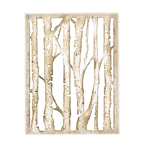 Sizzix 663108 Thinlits Dies Branched Birch by Tim Holtz, Multicolor