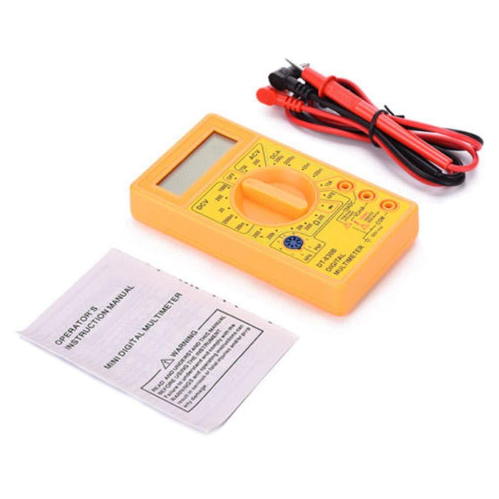 LCD numé rique DT-830B Multimè tre portable Voltmè tre Ohmmè tre Ampè remè tre AC DC Tension Checker OHM DC Circuit testeur noir Lidahaotin