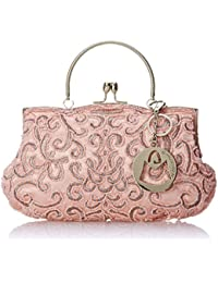 Adele Embroidered Seed-Beaded Evening Purse