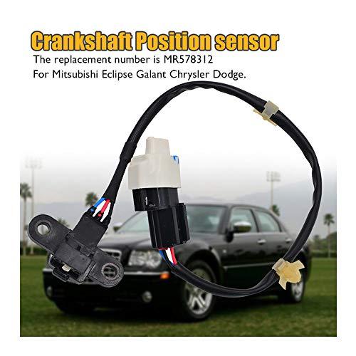 Crank Crankshaft Position Sensor MR578312 for Mitsubishi Eclipse Galant Chrysler Dodge (Black) ()