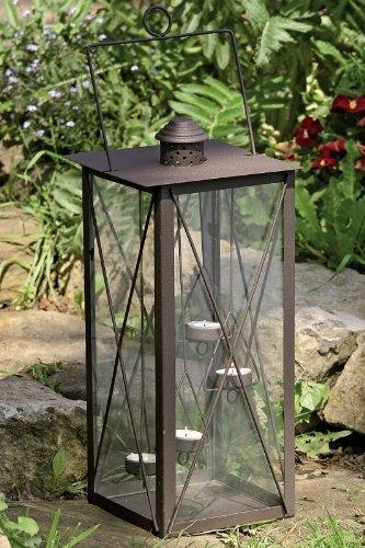 Laterne Windlicht Teelichthalter Romance 4 Teelichter Eisen Glas 45