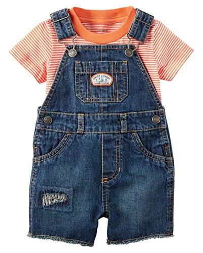 Carter's Baby Boys' Striped Shortalls Set 3 - Boy Baby Shortalls