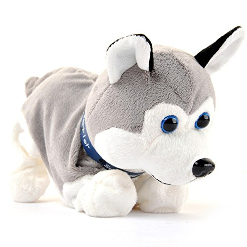 Sound Control Electronic Dogs Interactive Electronic Pets Robot Dog Bark Stand Walk Somersaults Electronic Toys Dog For Children Birthday Christmas Gift-Huskies Dog