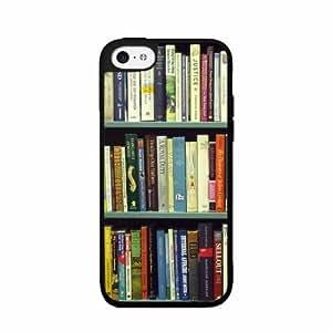 Book Shelf - Phone Case Back Cover (iPhone 5/5s - TPU Rubber Silicone)