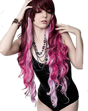 Amazon.com : RockStar Wigs Cranberry Pink