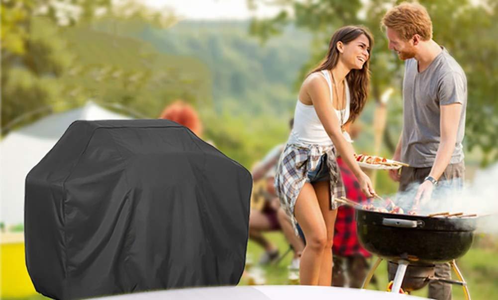 griglia per Barbecue Coperchio Rotondo per Barbecue griglia Esterna con Cordoncino Nero Dimensioni : S-80/×66/×100cm Copertura Coperchio Barbecue Resistente alla Polvere