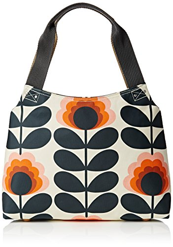 Orla Kiely Summer Flower Stem Classic Zip Shoulder, Sunset by Orla Kiely