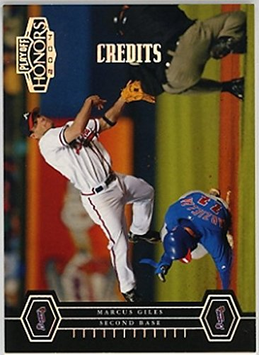 2004 Playoff Honors Credits Silver #22 Marcus Giles NM-MT /50 (Atlanta Braves Credit Card)
