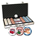 Da Vinci Set of 300 Welcome To Las Vegas Poker Chips w/Aluminum Case & Dealer Button