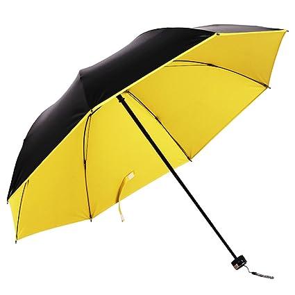 BOZEVON Paraguas Plegable Resistente al Viento, Paraguas Impermeable y Compacto para el Viaje con Protección