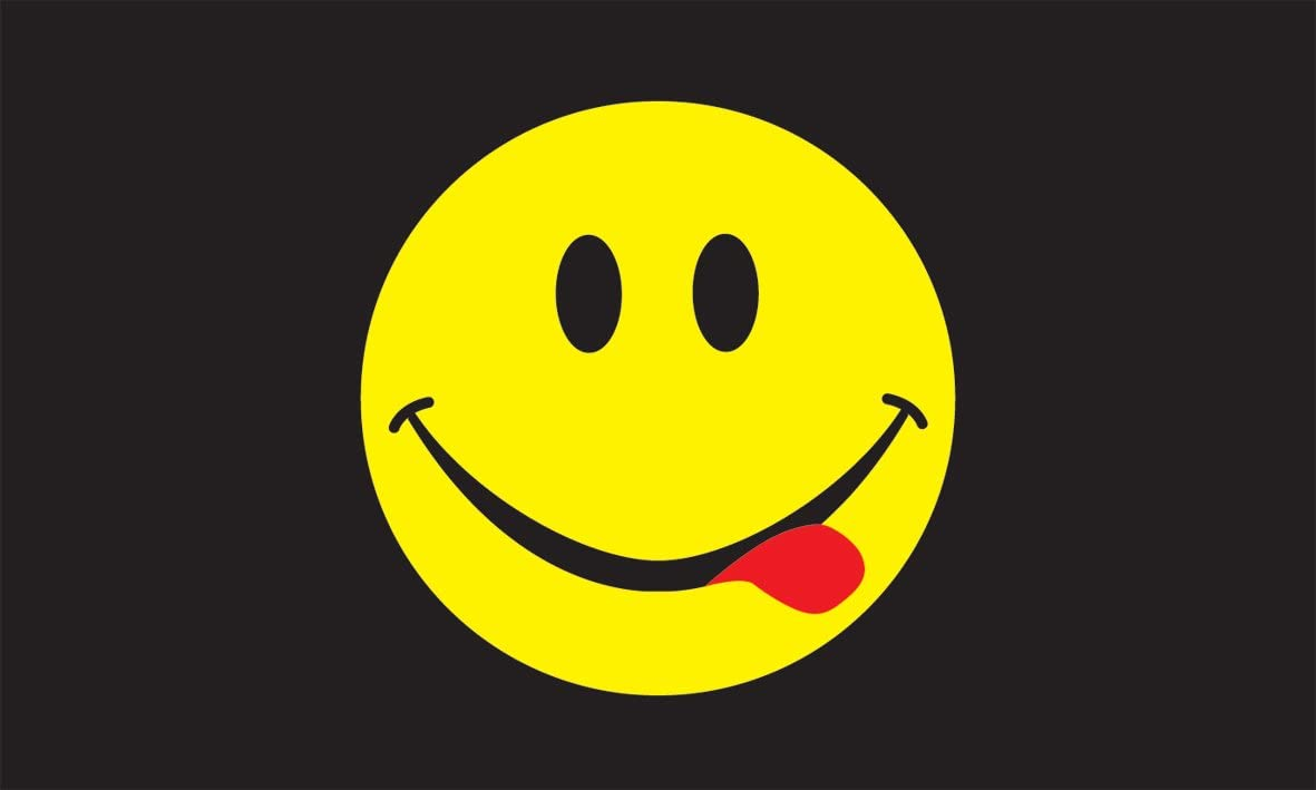 Smiley Face Acid Flag 3ft X 5ft Amazon Co Uk Garden Outdoors