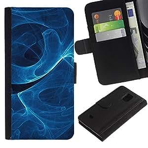JackGot ( Remolino de humo azul ) Samsung Galaxy S5 Mini (Not S5), SM-G800 la tarjeta de Crédito Slots PU Funda de cuero Monedero caso cubierta de piel