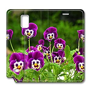 Brian114 Samsung Galaxy Note 4 Case, Note 4 Case - Protective Note 4 Leather Case Smiling Flower Customized Pattern Samsung Galaxy Note 4 Leather Case