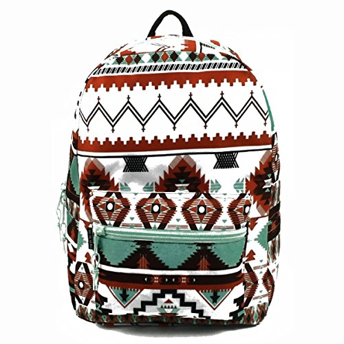 Arctic Star 17' Most Popular, Sturdy Ergonomic, Super Padded Girls Backpack for School, Backpacking, Camping, Outdoors and More! (Light Aztec)