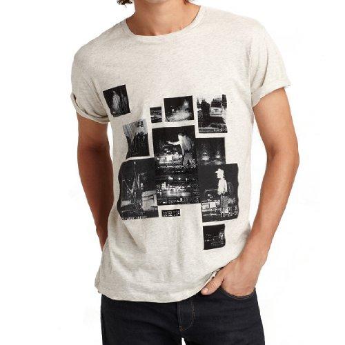 Marc by Marc Jacobs Mens Trouble Print T-shirt - Pale Grey - - Jacobs By Marc Men Marc