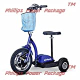 E-Wheels - EW-18 Stand & Ride Scooter - 3-Wheel - Blue - PHILLIPS POWER PACKAGE TM - TO $500 VALUE