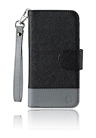 monsoon NAPLES Wallet Case Cover for Amazon Fire Phone (BLACK / GRAY) (Monsoon Naples Wallet Case Cover)