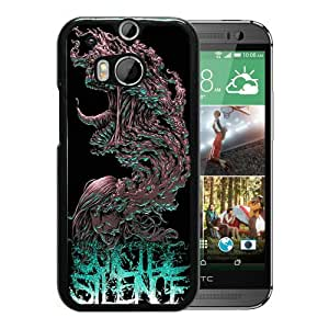 Suicide Silence 04 Black Hard Plastic HTC ONE M8 Phone Cover Case