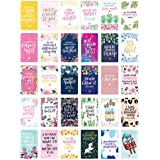 """bloom daily planners Encouragement Card Deck - Cute Inspirational Quote Cards - Just Because Cards - Set of Thirty 2"""" x 3.5"""" Cards - Assorted Designs"""