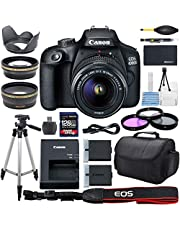 $478 » Canon EOS 4000D DSLR Camera with 18-55mm f/3.5-5.6 Zoom Lens, 128GB Memory,Case, Tripod and More - AOM Pro Bundle Kit (28 PCS)