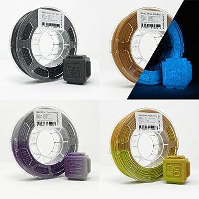 GO-3D Silver/Gold Flake Glittery Color Change Value Set 3D Printing PLA Filament 4pcs