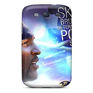 Snap-on Case Designed For Galaxy S3- Baltimore Ravens