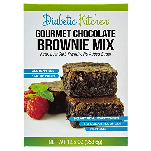 Diabetic Kitchen Gourmet Chocolate Brownie Mix Makes The Moistest, Fudgiest Brownies Ever Keto Friendly, Low-Carb, Gluten-Free, 15G Fiber, No Artificial Sweeteners or Sugar Alcohols (Regular - Doctors Carbrite Diet