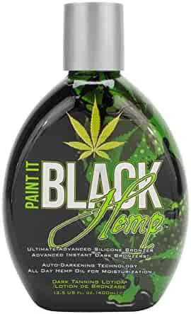 Millennium Tanning Products Paint It Black Hemp Bronzer Indoor Lotion, 13.5 oz.