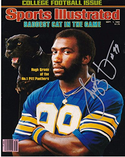 Hugh Green Autographed Photograph - PITTSBURGH PANTHERS SPORTS ILLUSTRATED COVER 8x10 - Autographed NFL (Pittsburgh Panthers Photograph)