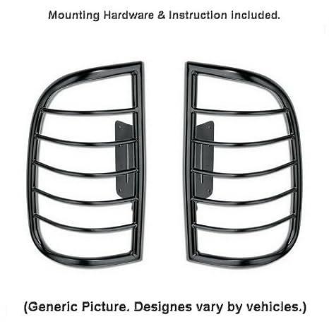 MaxMate Premium Custom Fit 2005-2010 Jeep Grand Cherokee Exclude Srt8 Tail Light Guards Black