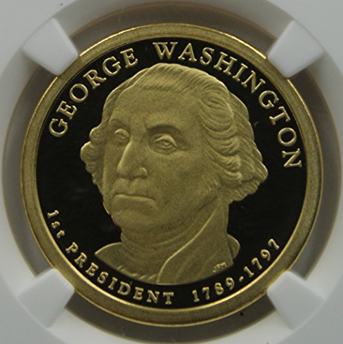 2007 S Presidential Dollar George Washington, 1st President, Ultra Cameo $1 PF-69 NGC