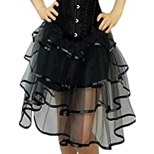 Yummy Bee Womens Long Frilly Tutu Skirt Burlesque Costume Plus Size 2 - 24