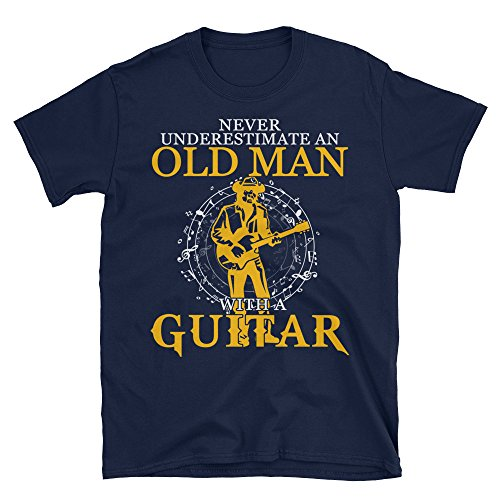 8a3f7ccf7 KingBubble Unisex Never Underestimate an Old Man with A Guitar T-Shirt