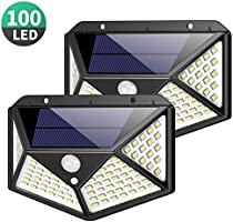 Solar Lights Outdoor 100 Led, Feob Upgraded Super Bright Motion Sensor Light with 270° Wide Angle, Wireless Waterproof...