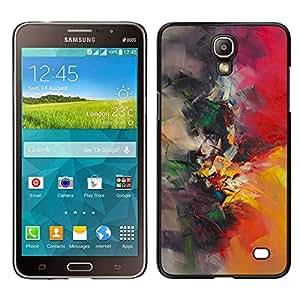 Pintura de la acuarela del pintor Naturaleza Pincel- Metal de aluminio y de plástico duro Caja del teléfono - Negro - Samsung Galaxy Mega 2