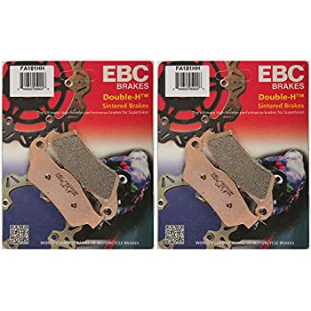 EBC Double-H Sintered Metal Brake Pads FA158HH 2 Packs - Enough for 2 Rotors