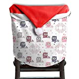Owl Animal Christmas Chair Covers Great Strong Santa Hat Chair Covers For Adult Dinner Chair Covers Holiday Festive