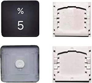 Replacement Individual Number 5 Key Cap and Hinges are Applicable for MacBook Pro 13/16inch Model A1989 A1990 and for MacBook Air Model A1932 Keyboard to Replace The 5 Keycap and Hinge